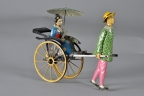 "Lehmann ""Masuyama"" Lady w/Fan in Coolie Cart"