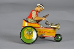 "Lehmann ""Mixtum"" White Clown Drives Comical Cart"